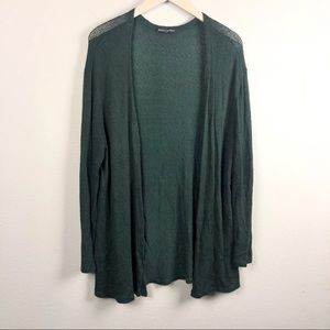 Brandy Melville emerald green cardigan sweater